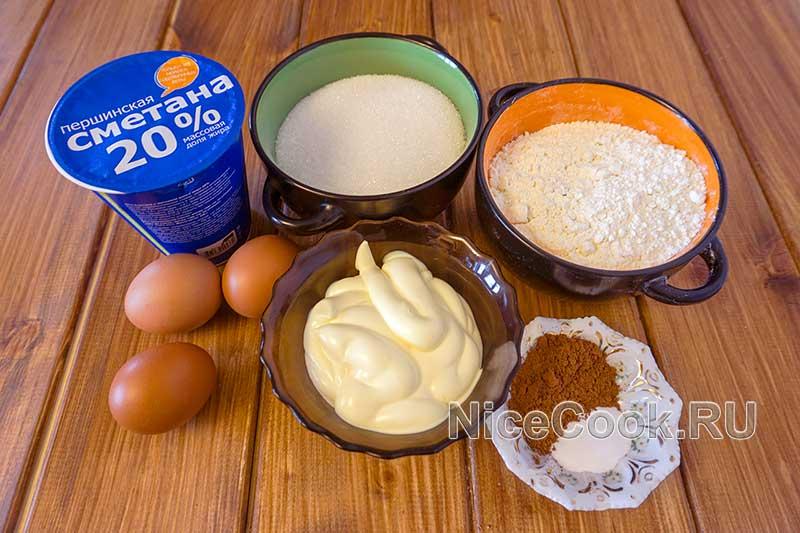 Домашний торт девичий - ингредиенты