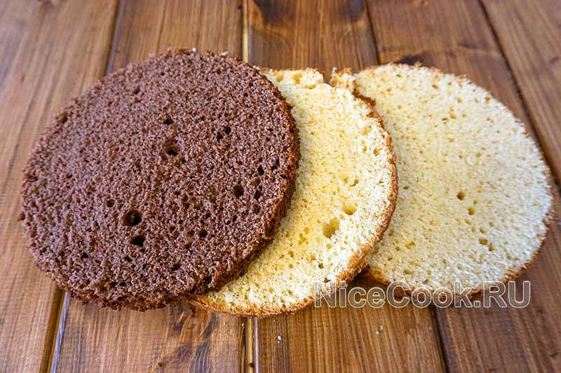 Домашний торт девичий - нарезаем коржи