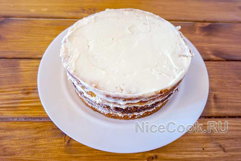 Домашний торт девичий - снимаем форму с торта