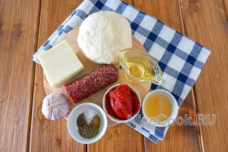 Домашняя пицца пепперони - ингредиенты