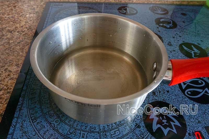 Каша 5 злаков на воде - нагреваем воду