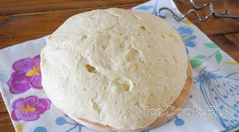 Тесто для пирожков дрожжевое на молоке - готовое тесто