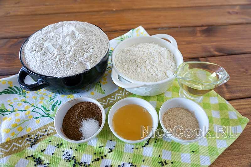 Домашний бородинский хлеб в духовке - ингредиенты