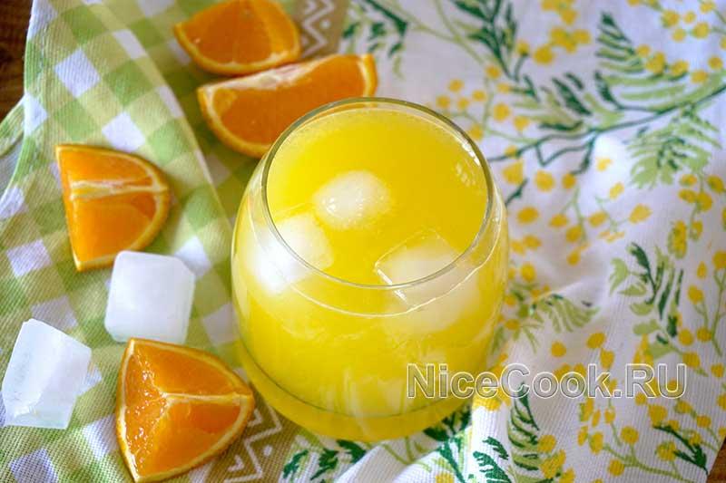 Домашний лимонад из замороженных апельсинов - готовый лимонад