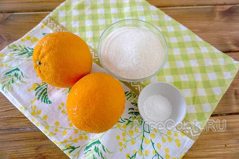 Домашний лимонад из замороженных апельсинов - ингредиенты
