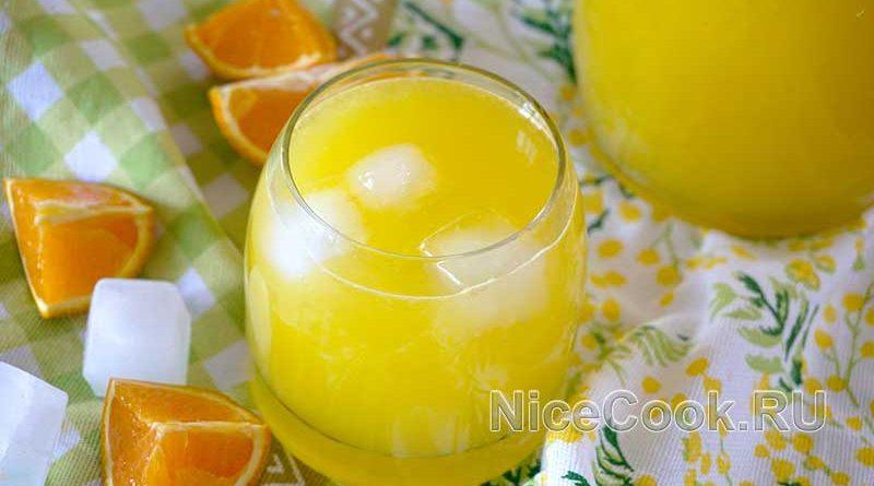 Домашний лимонад из замороженных апельсинов - подача