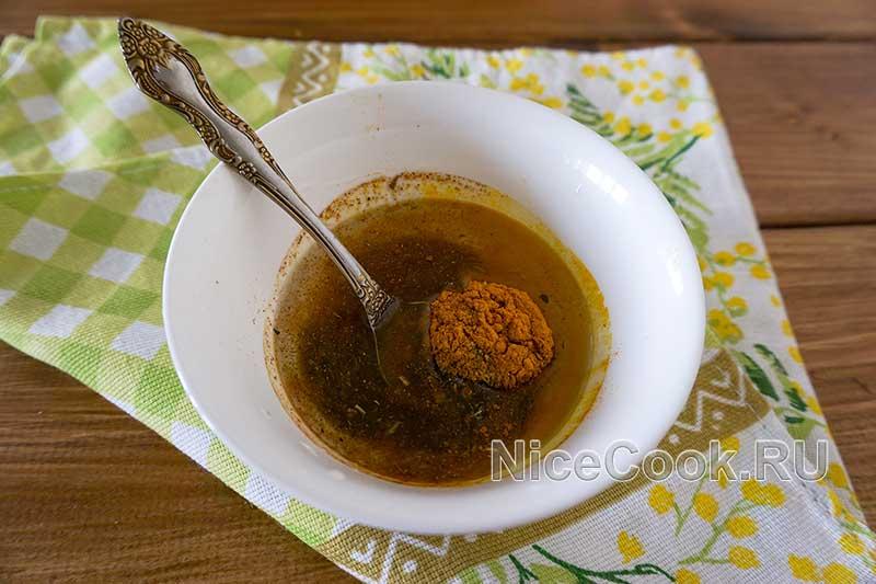 Филе индейки на сковороде гриль - готовим пряное масло