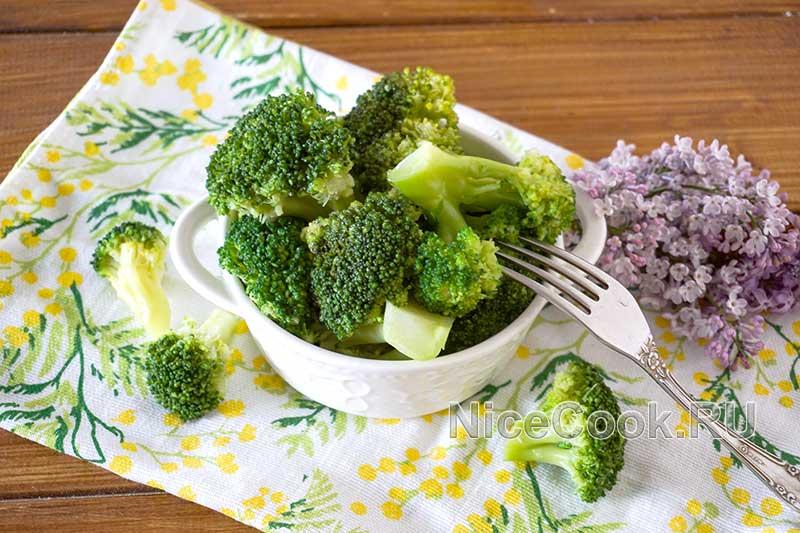 Как варить брокколи - готовое блюдо