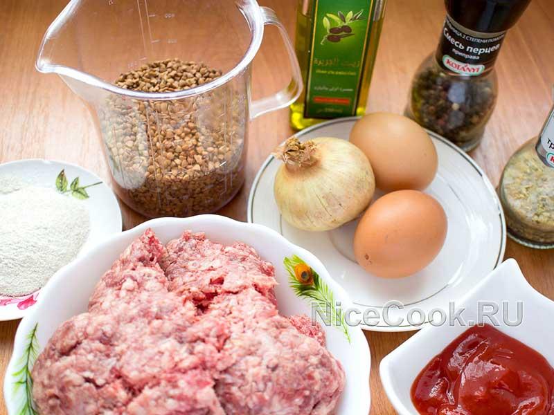 Котлеты из гречки с говяжьим фаршем - ингредиенты
